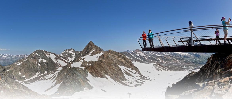 Gipfelplattform-Stubaier Gletscher